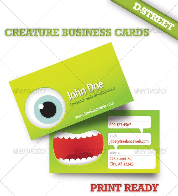 Creature Business Card - Creative Business Cards