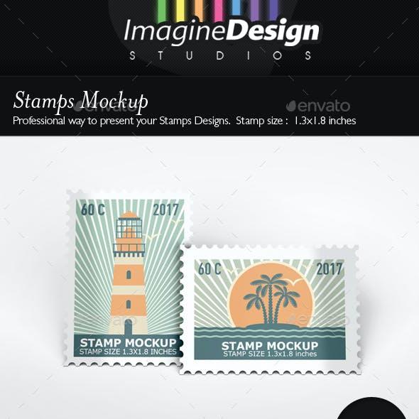Stamps Mockup