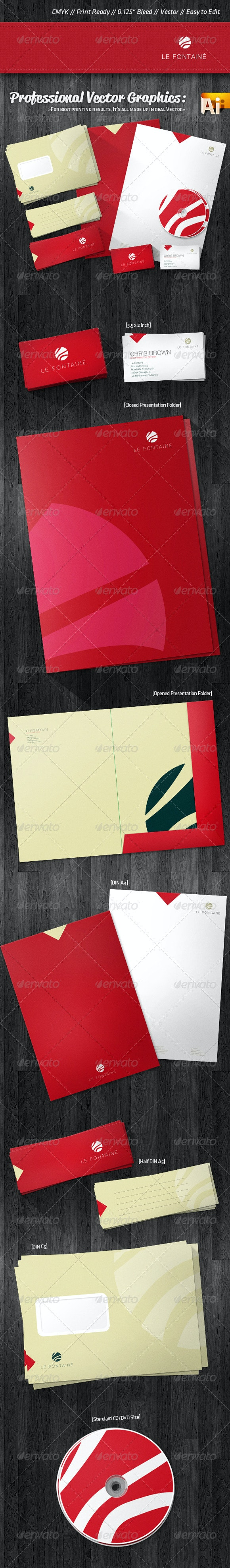 Professional Wellness Corporate Identity Package - Stationery Print Templates