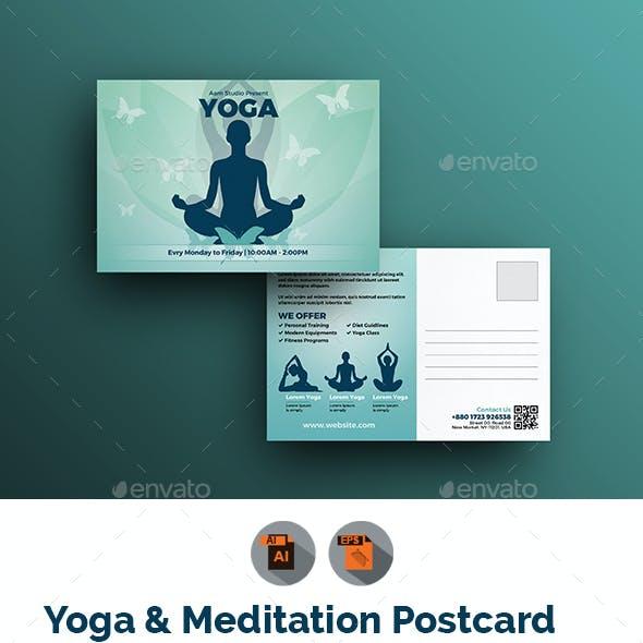 Fitness & Yoga Postcard Template