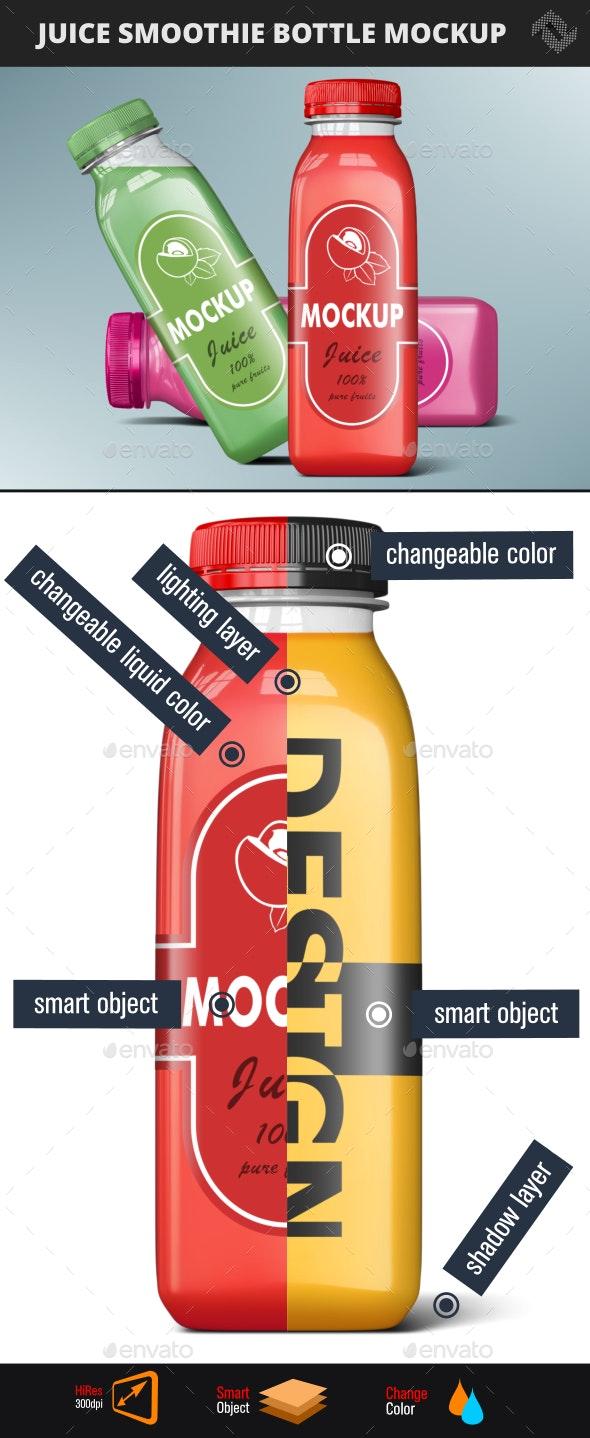 Smoothie Bottle Mockup - Food and Drink Packaging