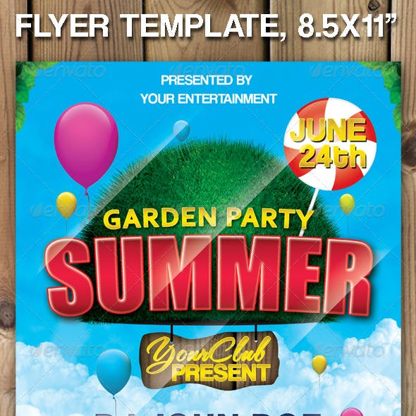 "Garden Party Summer ""Flyer Template"""