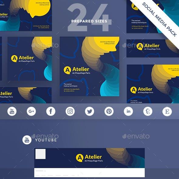 Atelier Social Media Pack