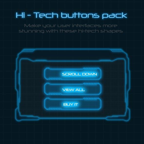 Hi-tech HUD Buttons (Custom Shapes)