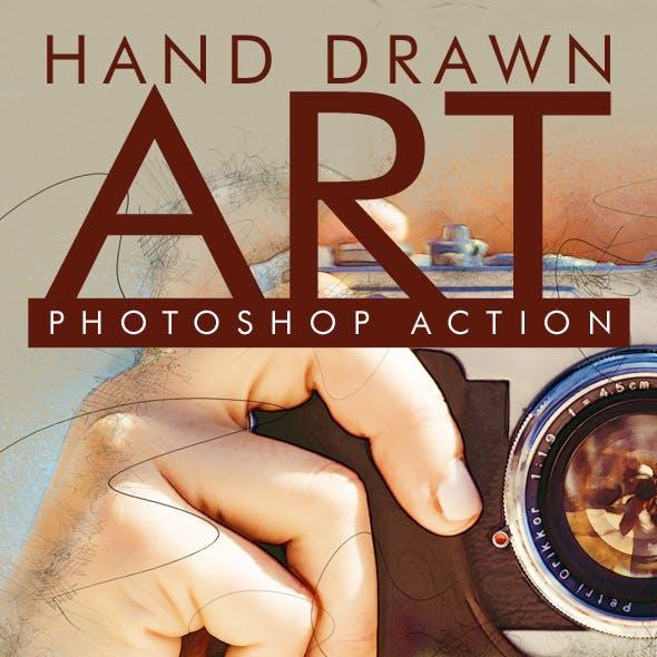 Hand Drawn Art Photoshop Action