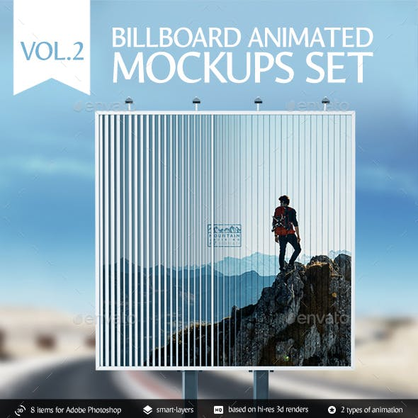 Billboard Animated Mockups Set Vol.2
