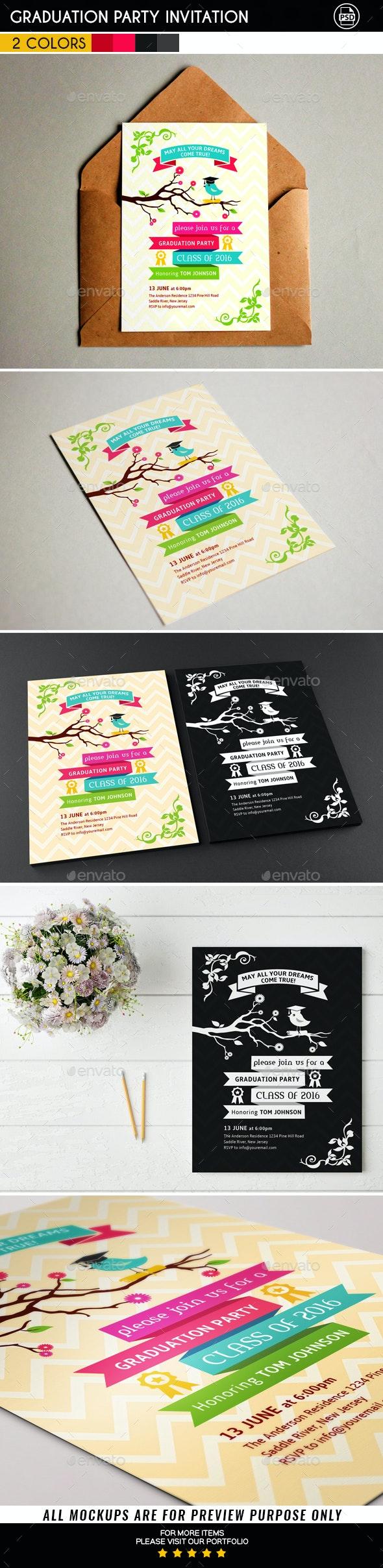 Graduation Party Invitation Card - Invitations Cards & Invites