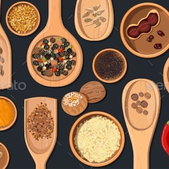Wooden Spoons and Bowls with Realistic Popular