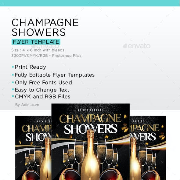 Champagne Showers Flyer