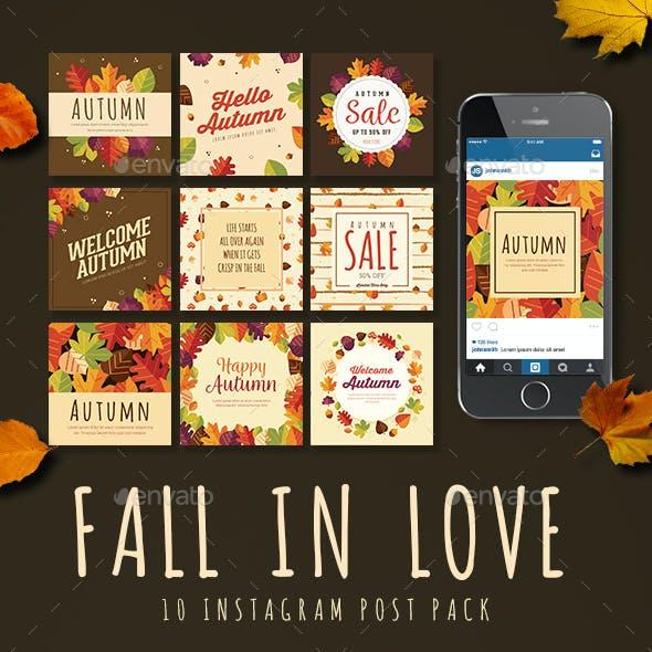 Fall in Love 10 Instagram Post Pack