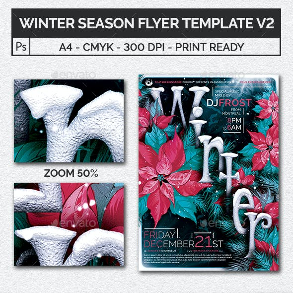 Winter Season Flyer Template V2