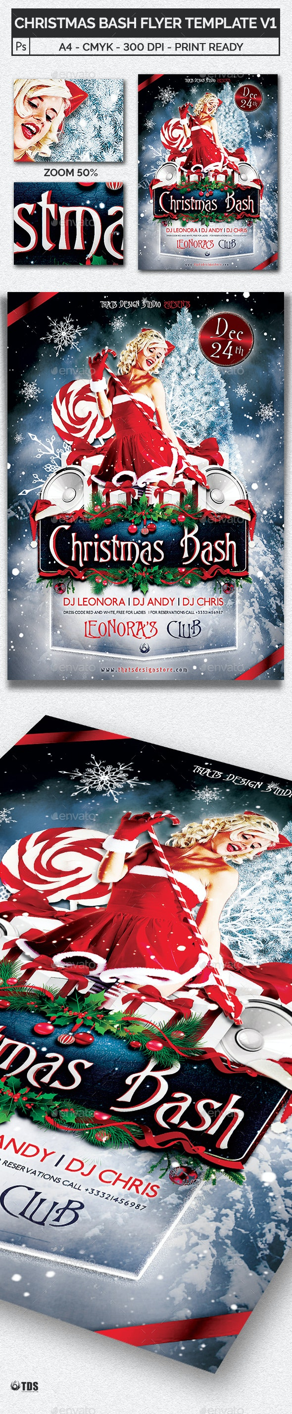 Christmas Bash Flyer Template V1 - Clubs & Parties Events