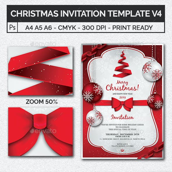 Christmas Invitation Template V4