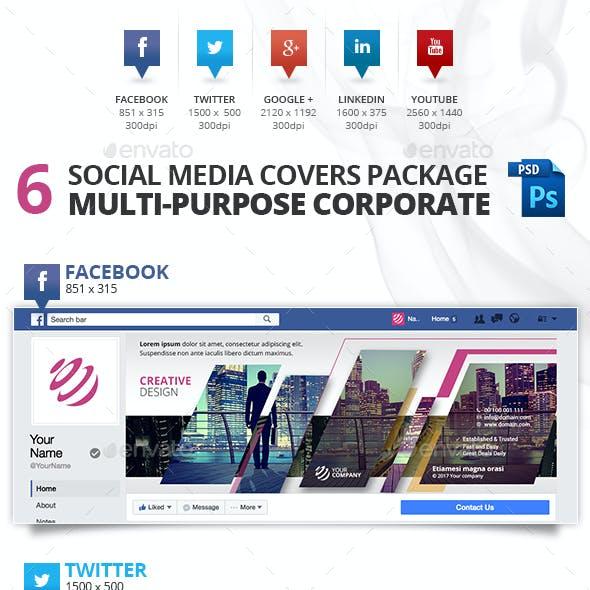 6 Social Media Multi-purpose Professional Covers