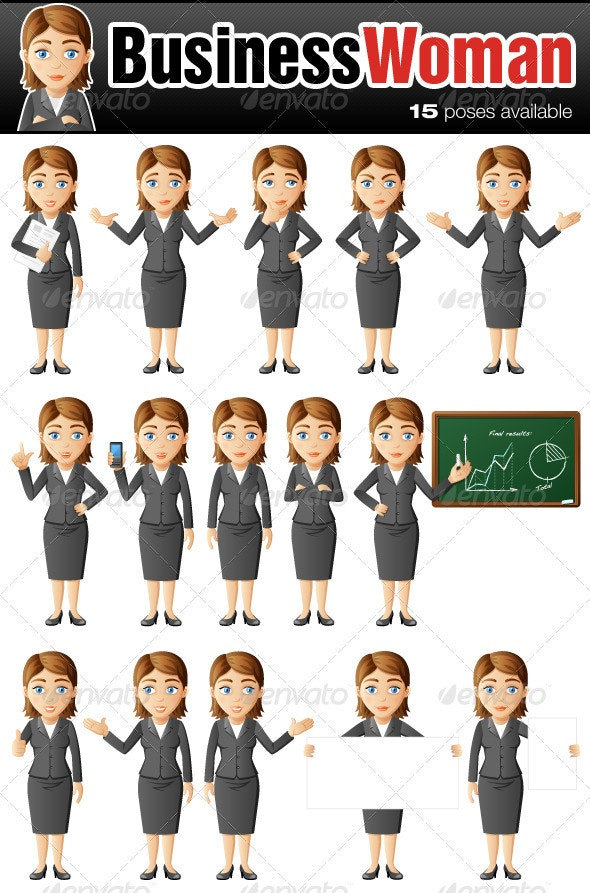 Business Woman Character - Characters Vectors
