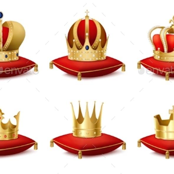 Heraldic  Crowns Set