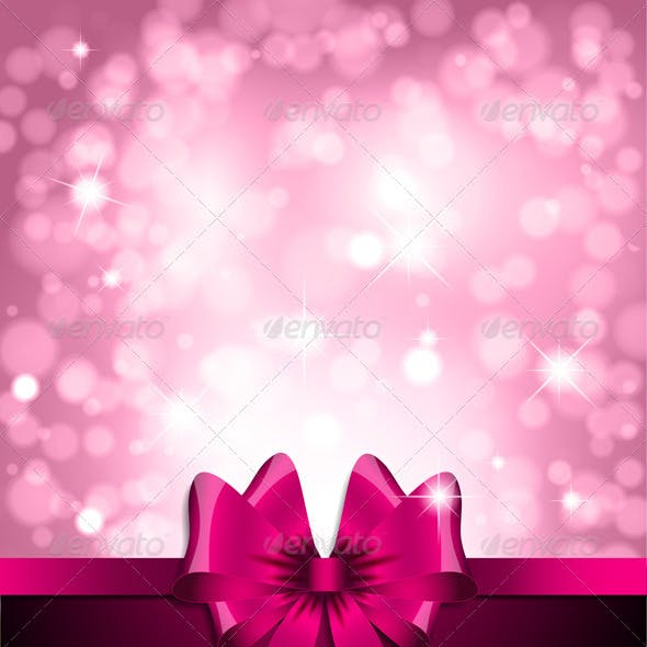 Pink bow background