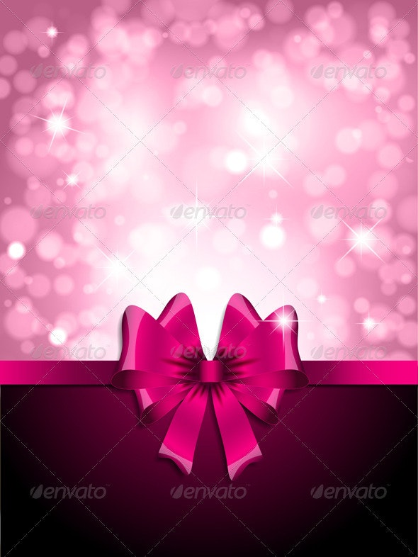 Pink bow background - Backgrounds Decorative