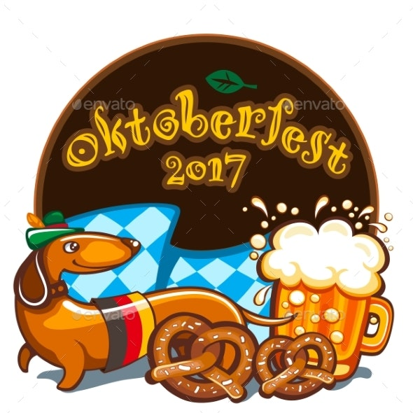 Oktoberfest Celebration Vector Banner Series - Food Objects