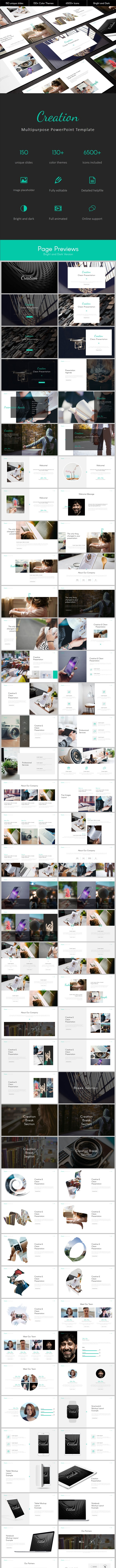 Creation Multipurpose PowerPoint Template - Business PowerPoint Templates