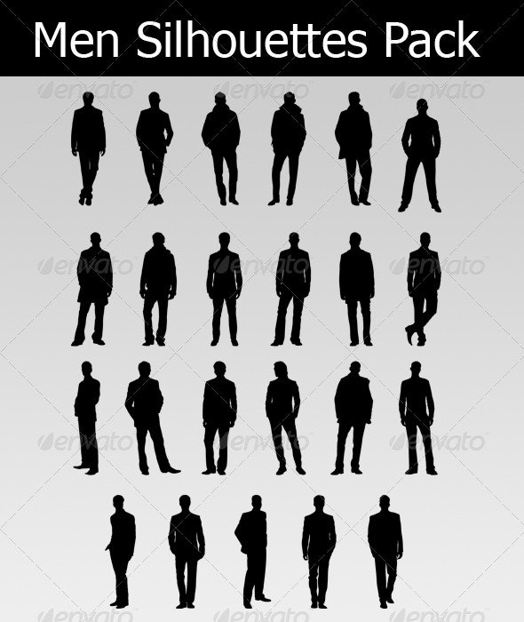 Men Silhouettes Pack - People Characters