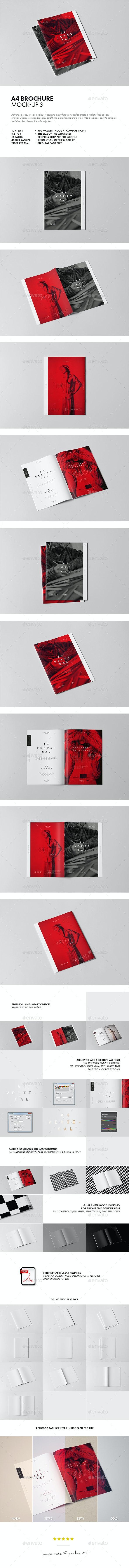 A4 Brochure Mock-up 3 - Brochures Print