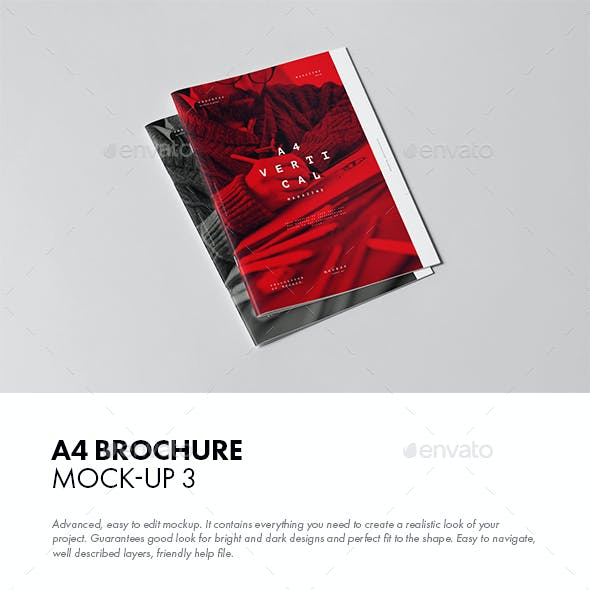 A4 Brochure Mock-up 3