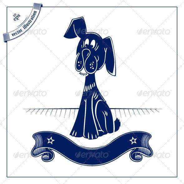 Funny Cartoon Dog - Animals Characters