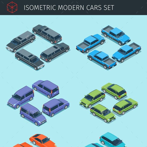 Isometric Cars Collection