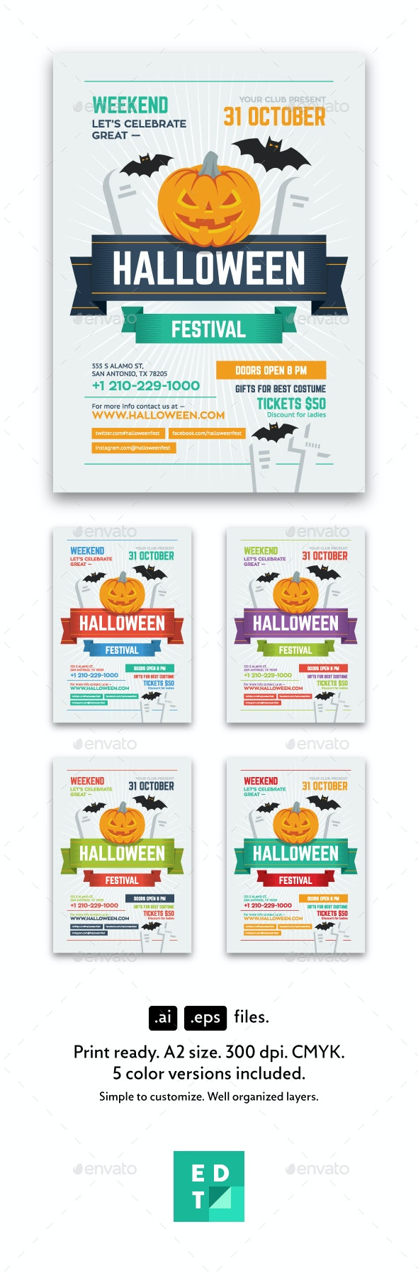 Halloween Party Poster - Holidays Events