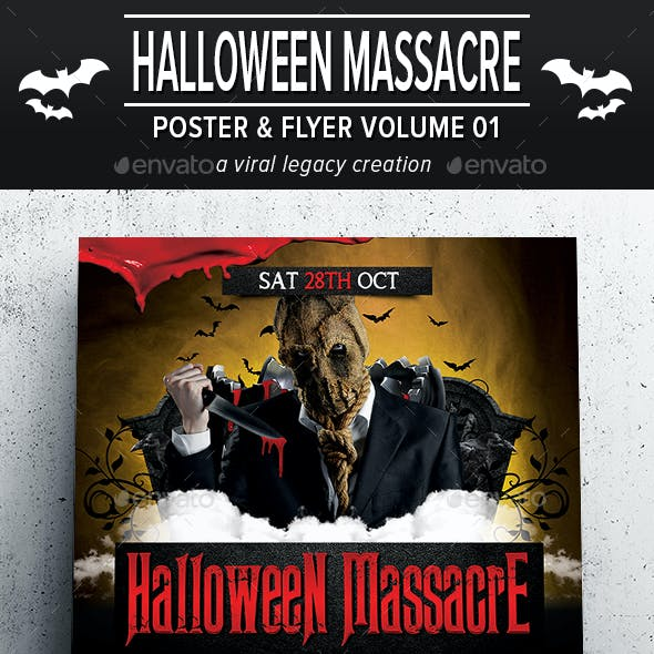Halloween Massacre Poster / Flyer V01