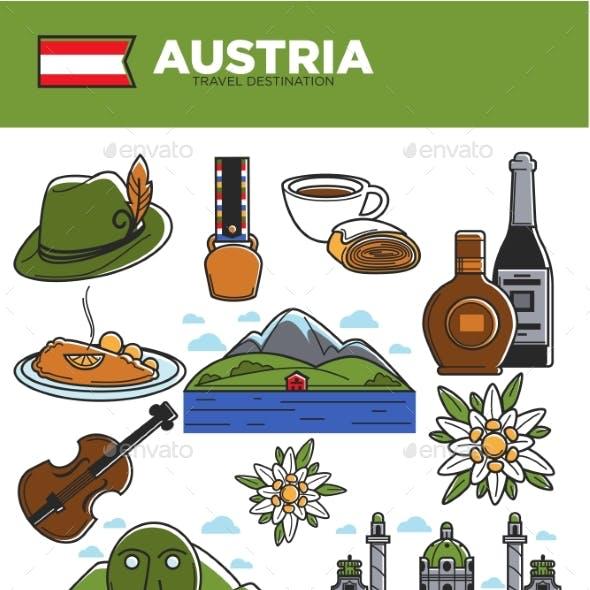 Austria Travel Destination Promotional Poster