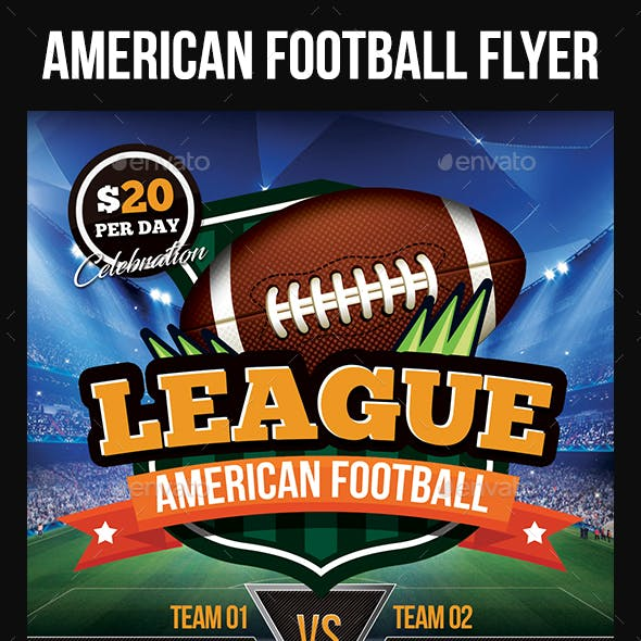 American Football Flyer Templates