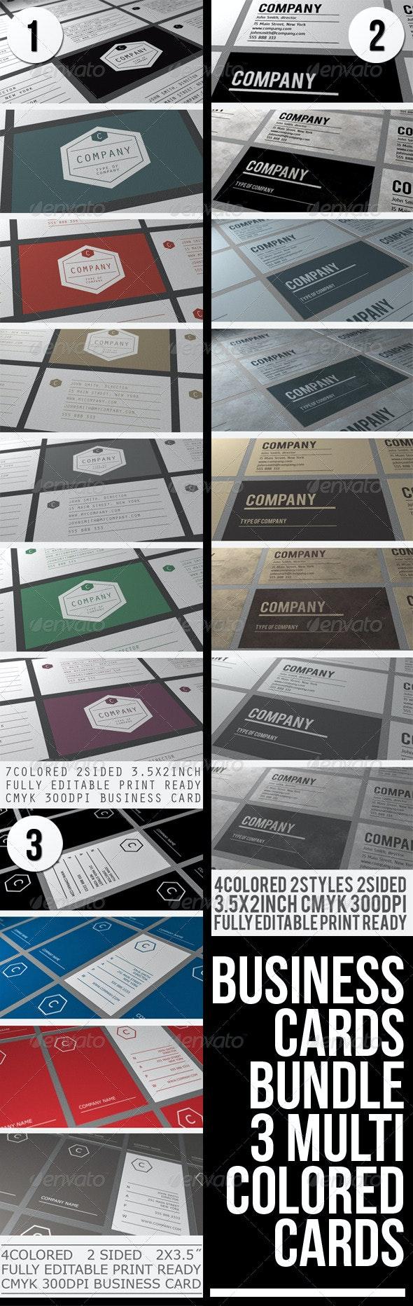 BUSINESS CARDS BUNDLE - Corporate Business Cards