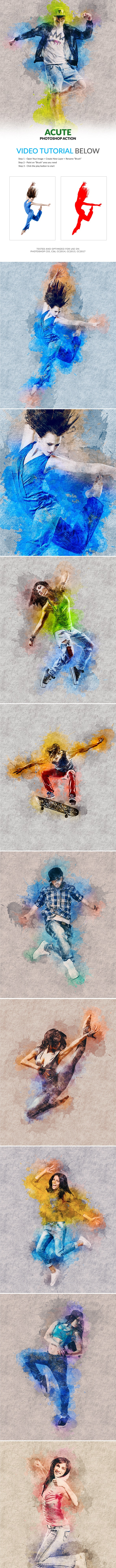 Acute Photoshop Action - Photo Effects Actions