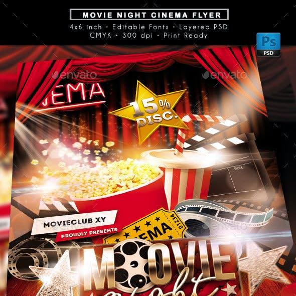 Movie Night Cinema Flyer