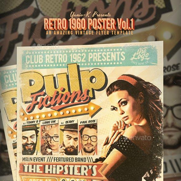 Pulp Retro 1960's Poster