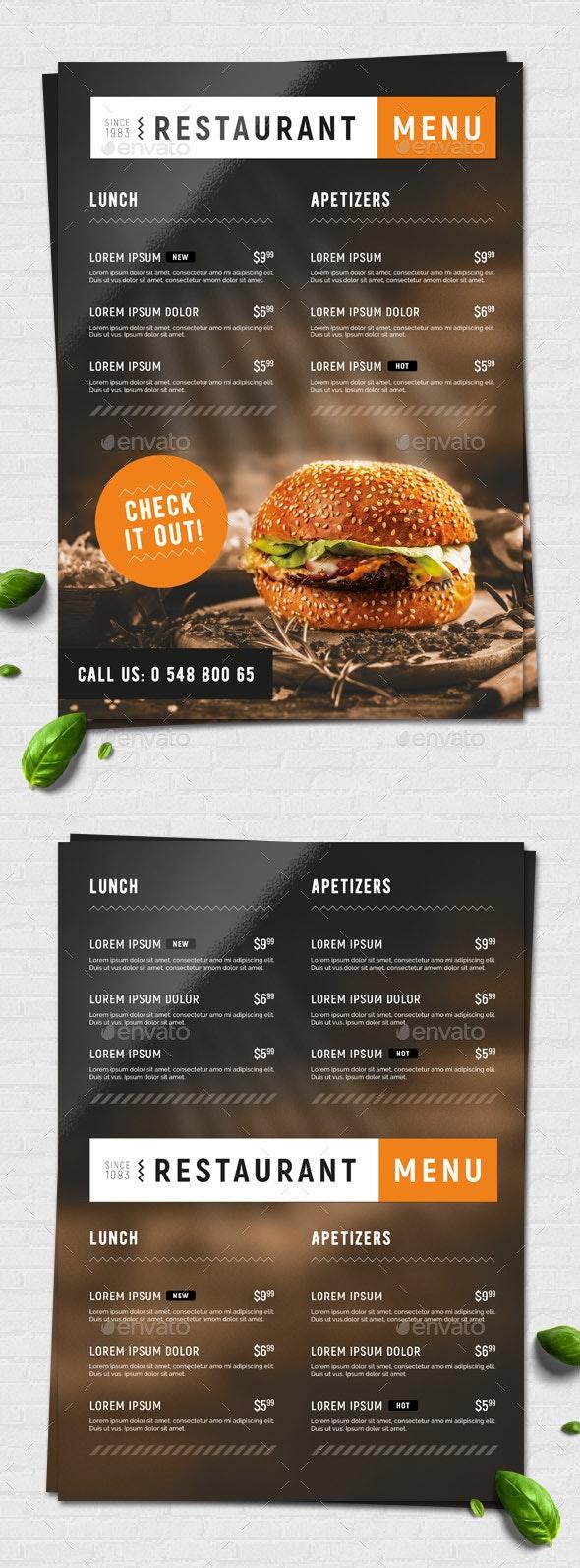 Fast Food / Restaurant Menu