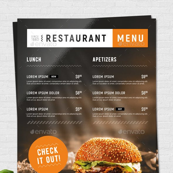 Fast Food / Restaurant Menu