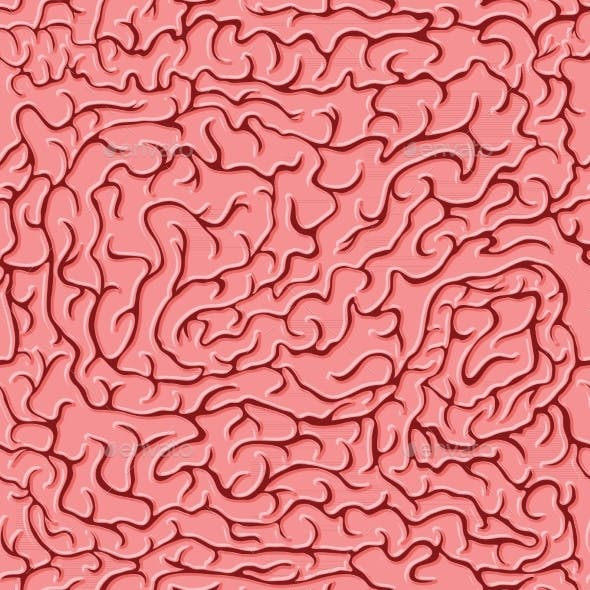 Seamless Pattern with Brains
