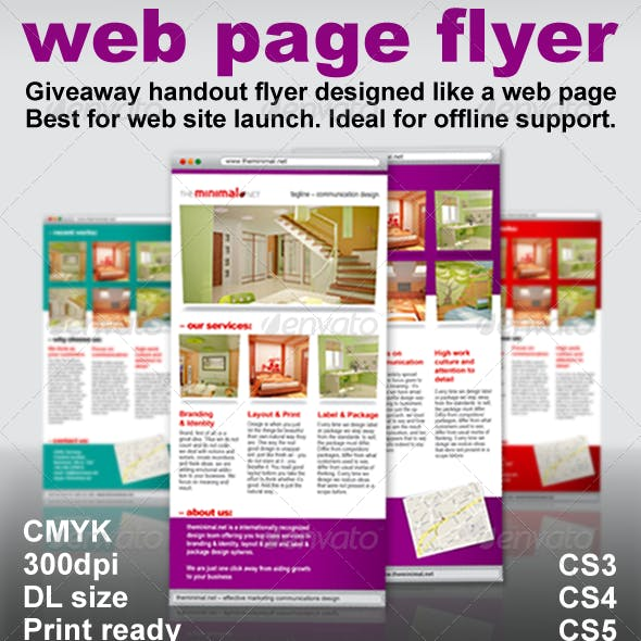 Web Page Flyer – Giveaway Flyer as a Webpage