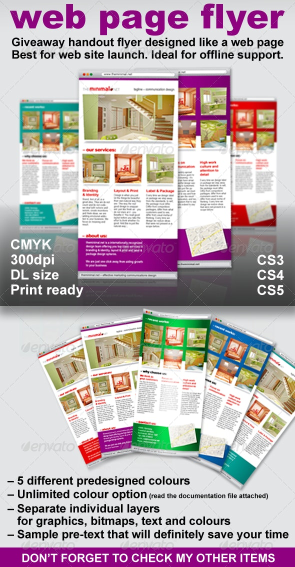 Web Page Flyer – Giveaway Flyer as a Webpage - Corporate Flyers