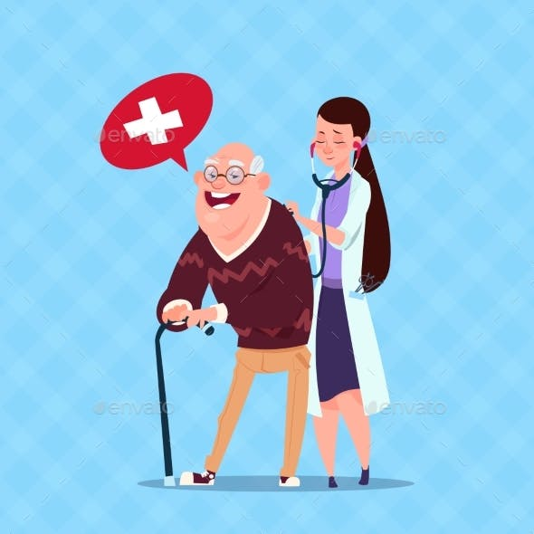 Doctor Taking Care of Senior Man