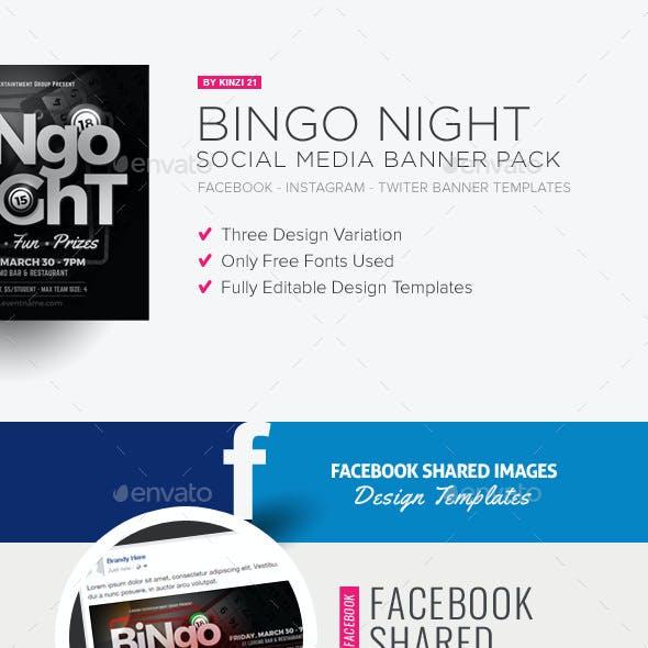 Bingo Night Social Media Banner Pack