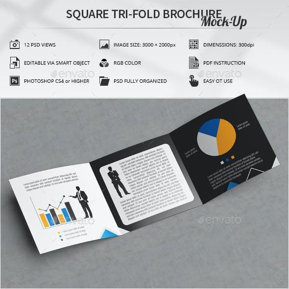 Square Tri-Fold Brochure Mock-Up