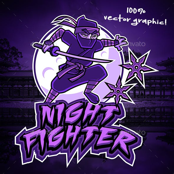 Night Fighter Mascot