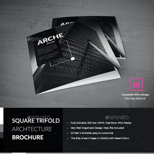 Architecture Square Trifold Brochure