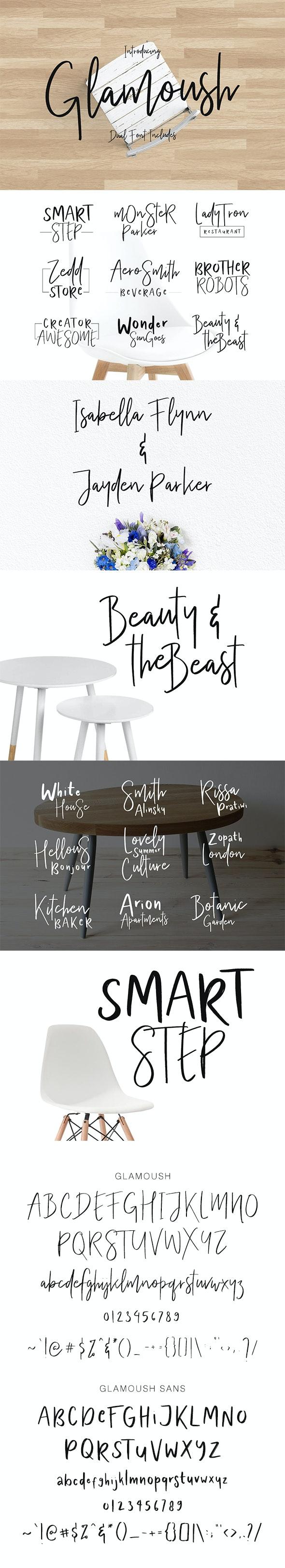 Glamoush Typeface - Cool Fonts