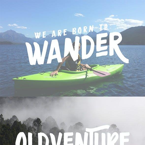Oldventure - Handbrushes Typeface