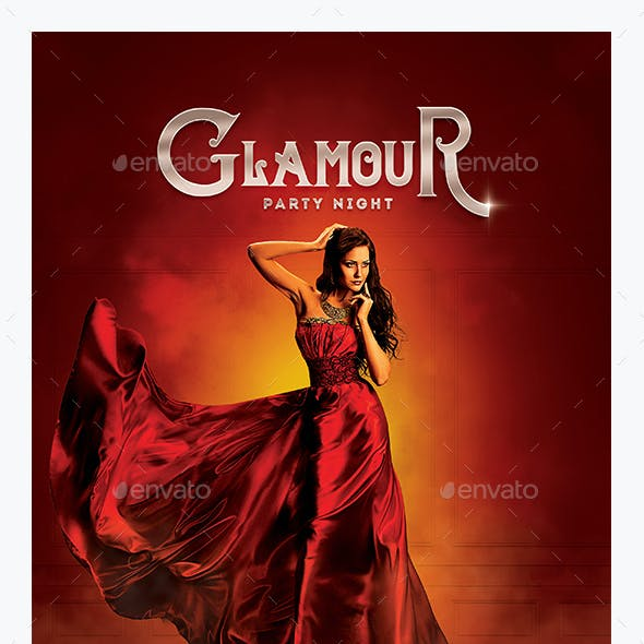 Glamour Red Party Flyer